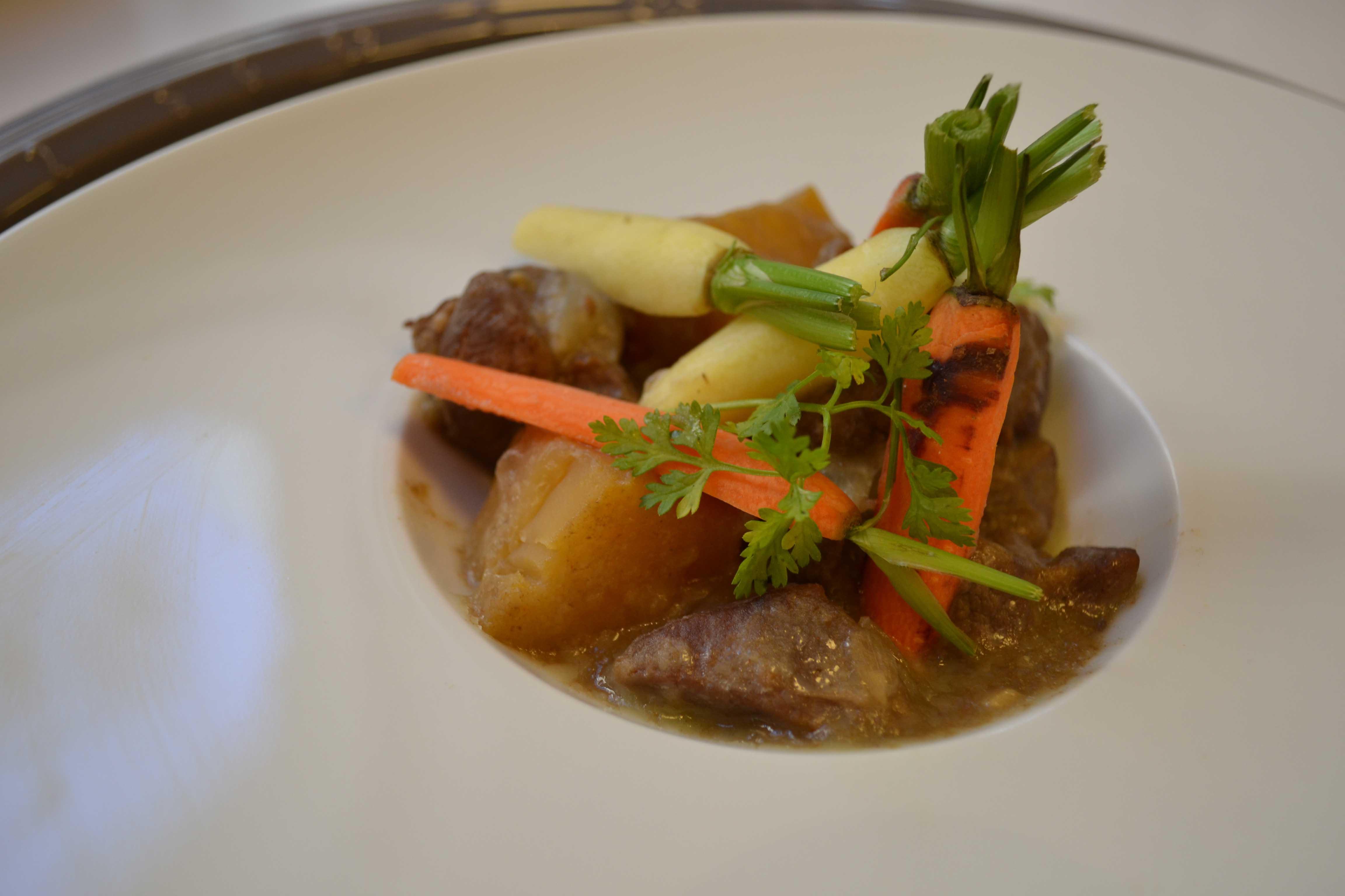 Sauté d'agneau à la bière du nord et carotte de couleurs de Tilques