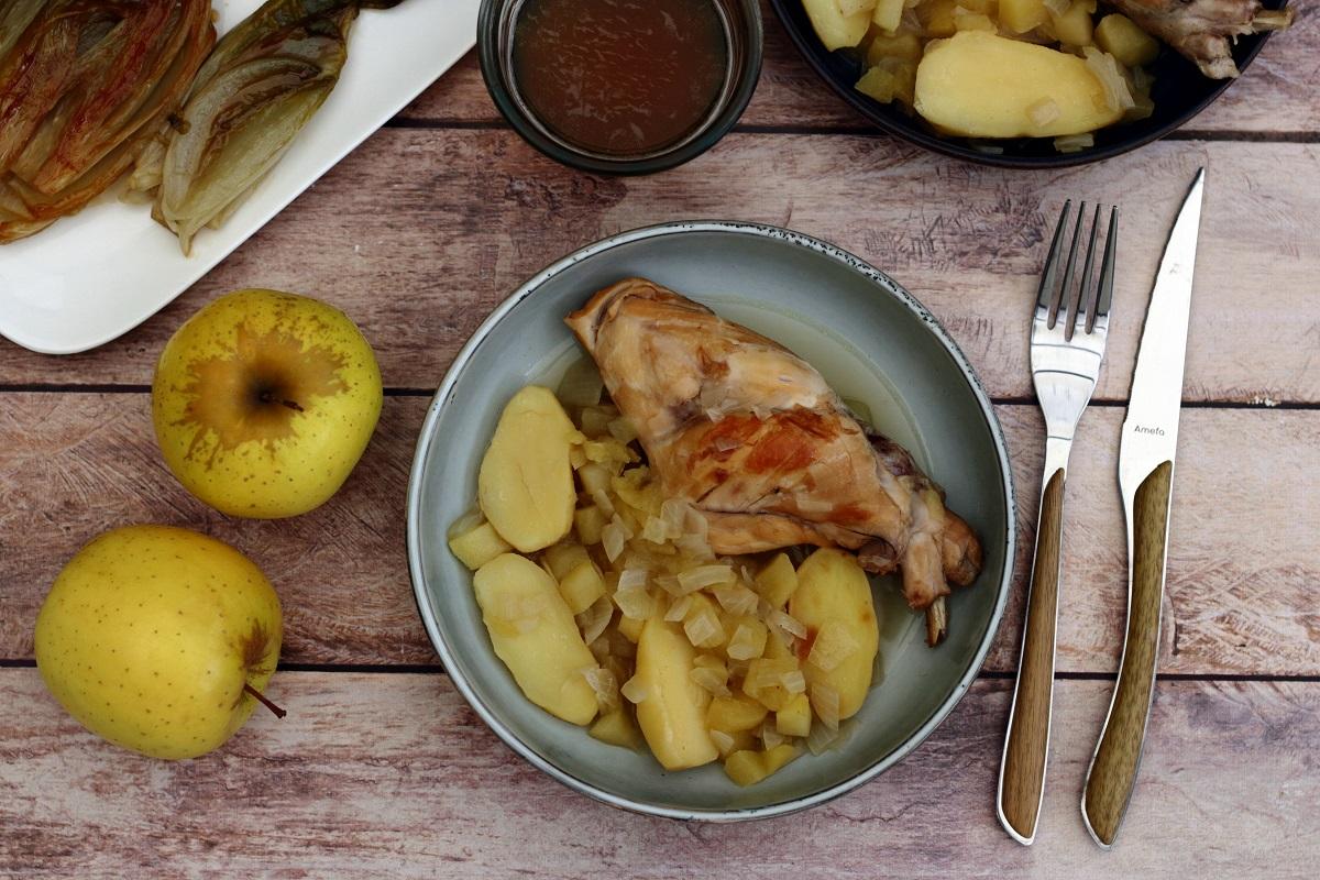 Cuisses de lapin aux pommes
