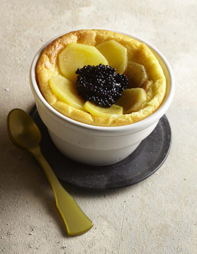 recette soufflé de pompadour et caviar