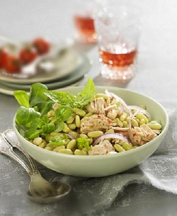 Salade de flageolets verts au thon