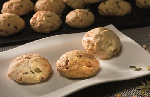 Trio de cookies ail d'Arleux, Maroilles et échalotes