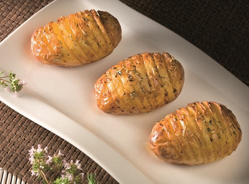 Pommes de terre de Merville en éventail