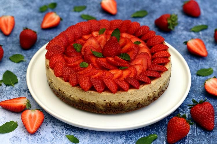 Cheesecake aux fraises et spéculoos