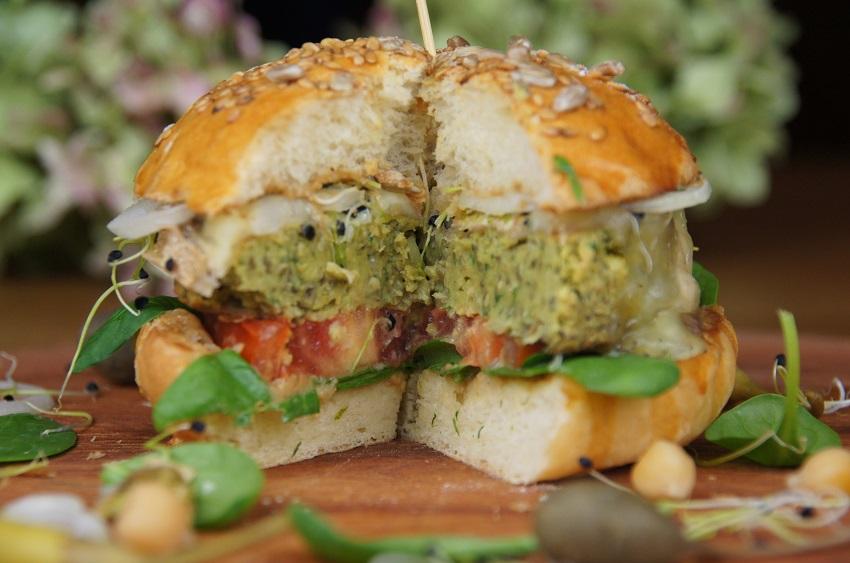 Burger végétal au maroilles
