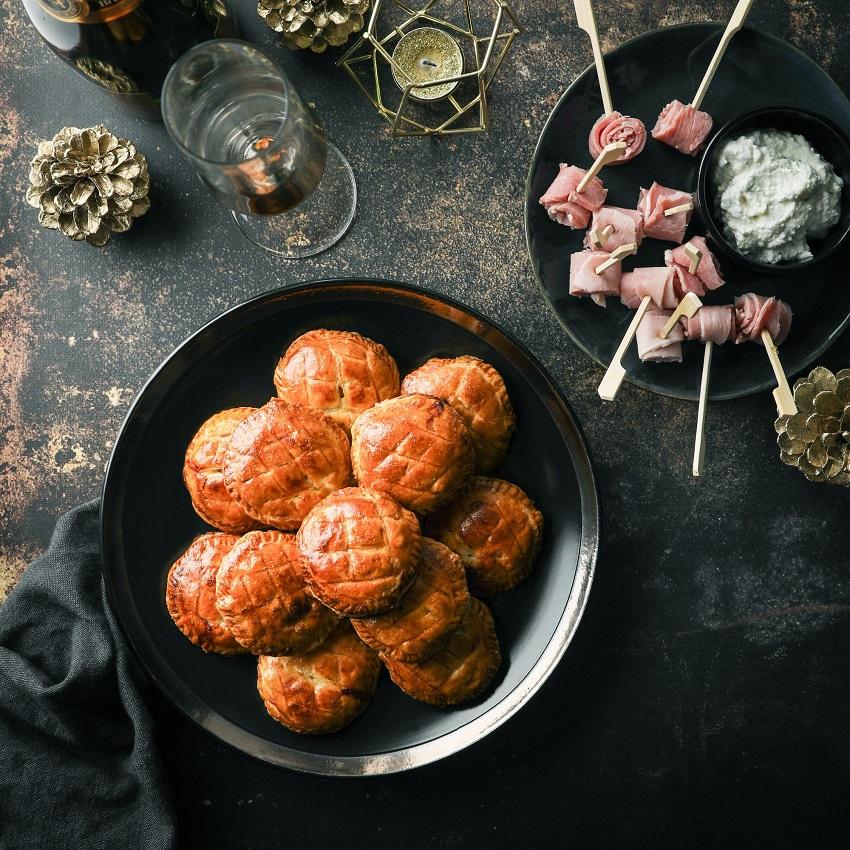Galettes salées au jambon et fromage