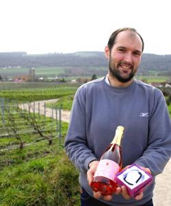 Laurent Pierre milite pour que son champagne des Hauts-de-France s'ouvre au monde.