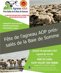 C'est la Fête de l'agneau AOP Prés-salés de la Baie de Somme, samedi 18 septembre 2021 à partir de 10 heures.