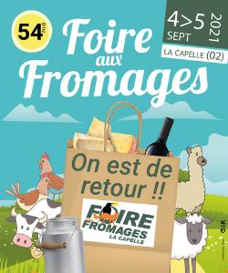La Foire aux fromages à la Capelle les 4 et 5 septembre dans l'Aisne. Un rendez-vous à ne pas manquer pour la rentrée !
