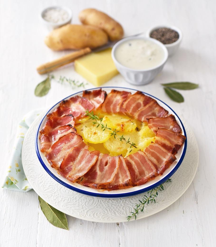 Gâteau de pommes de terre Pompadour et au lard